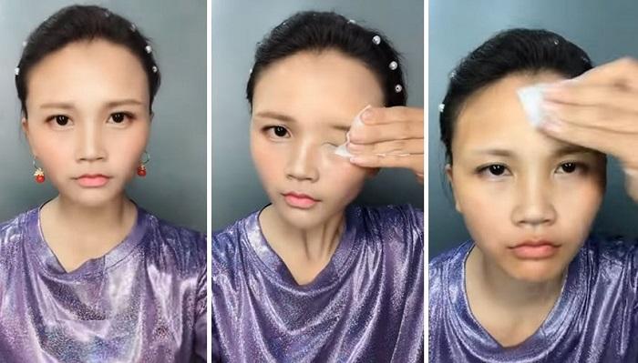 Как выглядят азиатские девушки после снятия мейкапа